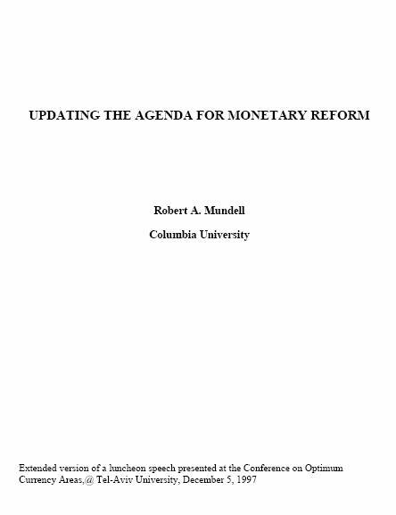 Updating the Agenda for Monetary Reform